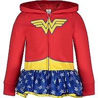 Wonder Woman Sudadera con Capucha para Niñas Traje Ligero con Zipper Completo