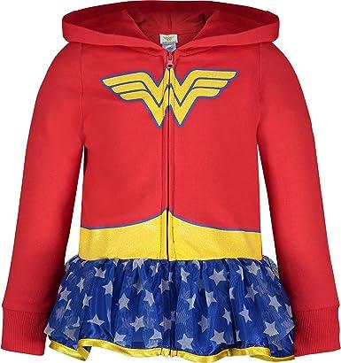Wonder Woman Sudadera con Capucha para Niñas Traje Ligero con ...