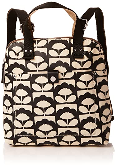 Orla Kiely Backpack Tote, Portés dos femmenoirBlack (CHARCOAL)
