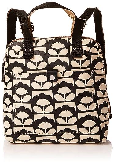 Amazon.com  Orla Kiely Women s Charcoal Spring Bloom Small Backpack Tote   Shoes 8b29b8eba7a8a
