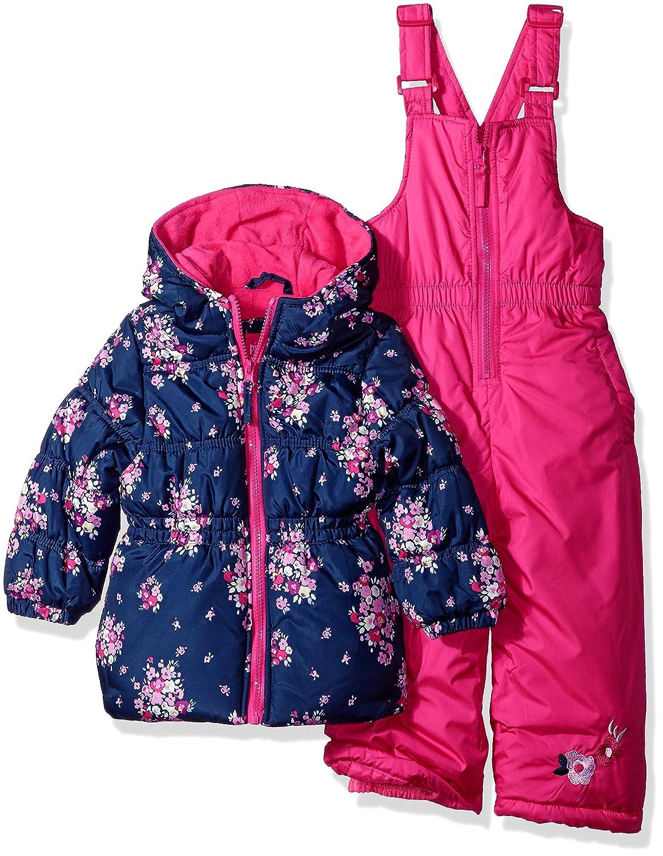 Pink Platinum girls Floral Print Snowsuit 98548