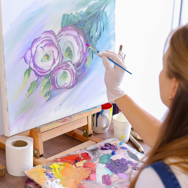 universelle 38 mm plat peintre pinceau lackpinsel le Lustre Acrylique le LUSTRE Pinceau 24 pcs