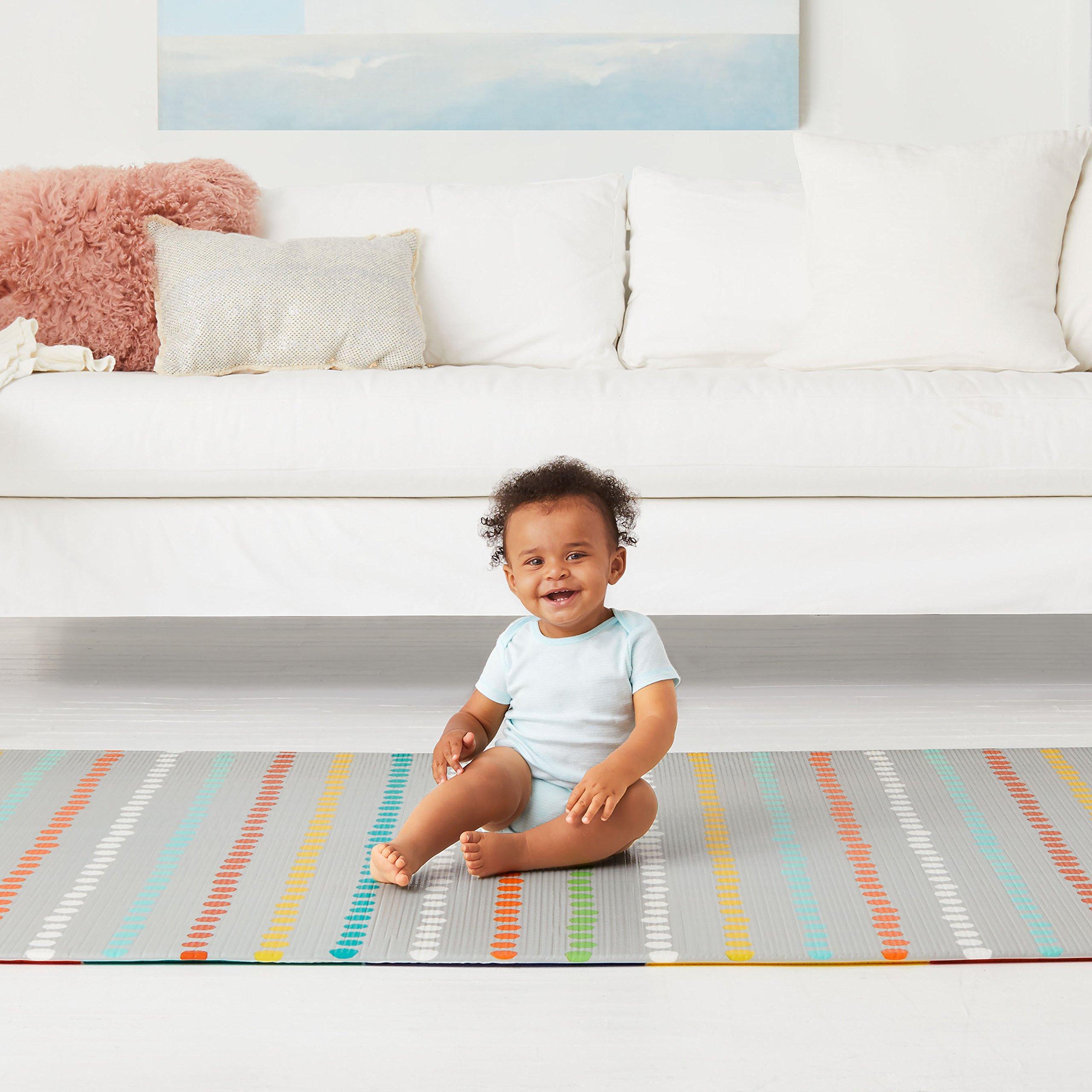 Skip Hop Zoo Reversible Waterproof Foam Baby Play Mat, Multi Colored, 86'' X 52'' by Skip Hop (Image #4)