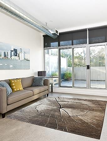 Anka Design Teppich Edler Wohnzimmer Teppich Modern Stein Optik Natur Farben    80x150 Cm   Schadstofffrei