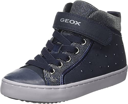 Geox J Gisli A, Sneaker a Collo Alto Bambina