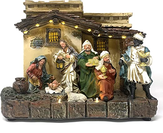 Light Up Nativity Scene Decorations  from images-na.ssl-images-amazon.com