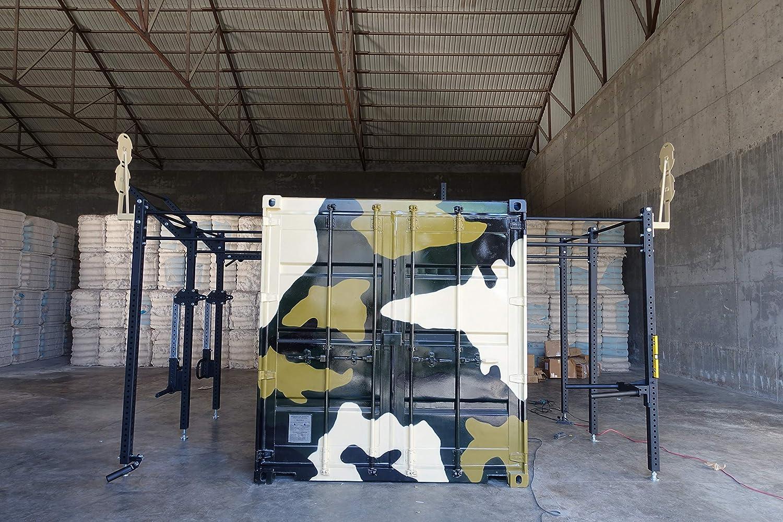 Grupo Contact Box-Cube-Gym 1 Puerta Mod.Nitro Gimnasio en contenedor (diseño Personalizado).: Amazon.es: Deportes y aire libre