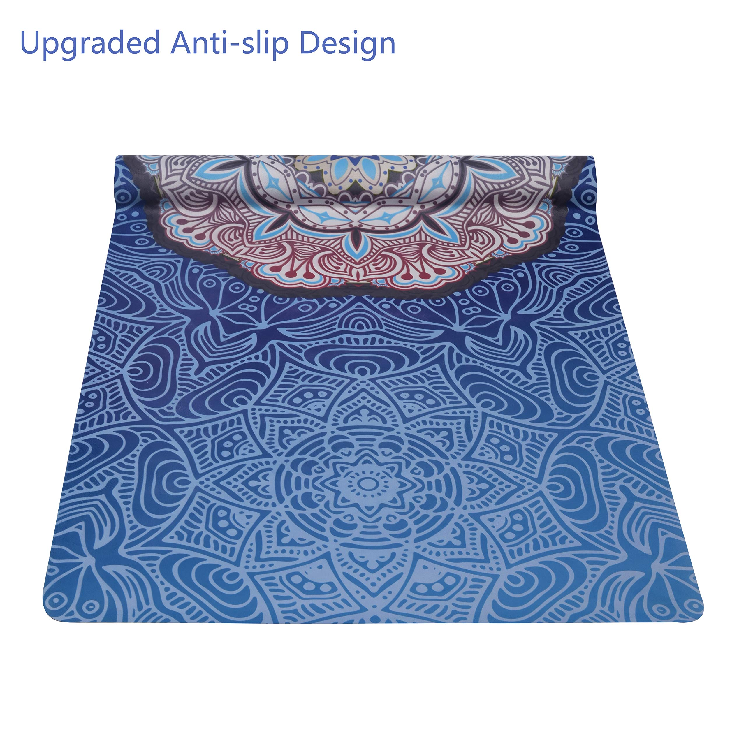 OPLIY Yoga Mat with Yoga Strap,Foldable Yoga Mat 1//16 Inch Thick Non-Slip Yoga Exercise Mat Sweat Absorbent High-Grade Natural Suede for Travel,Coming with Carrying Bag