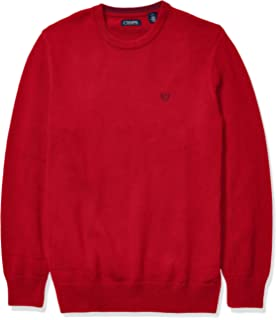 Chaps Mens Big and Tall Classic Fit Cotton Crewneck Sweater