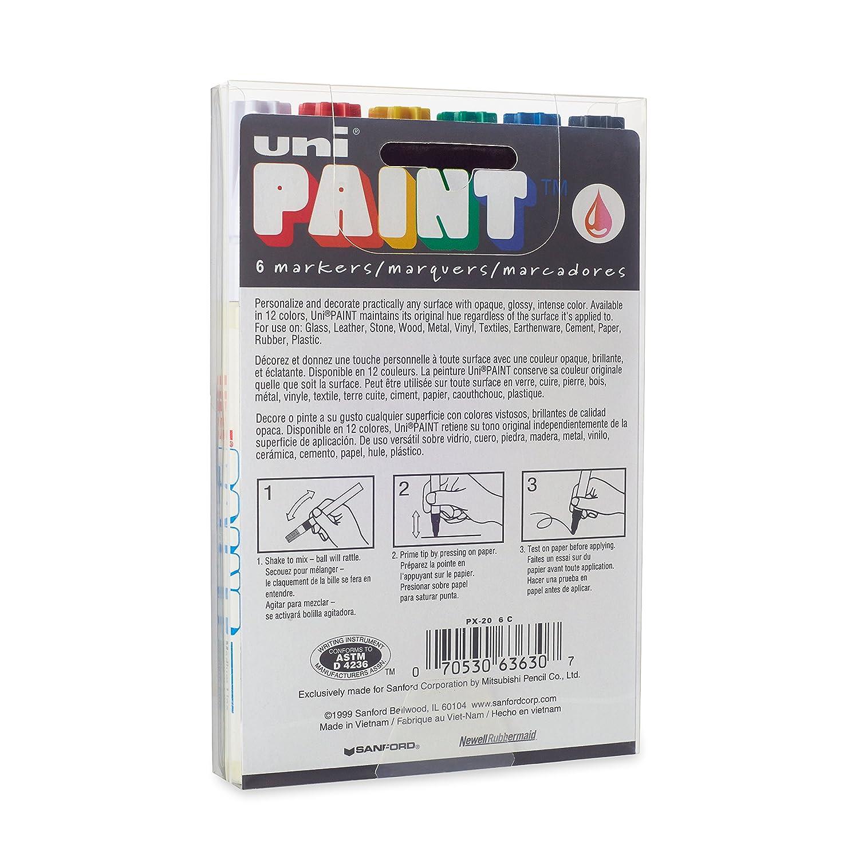 Uni-Paint 63705 PX-21 Oil-Based Paint Marker Yellow 12-Count Fine Point
