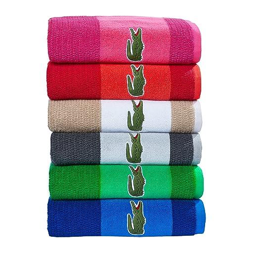 Amazon.com: Lacoste Match Bath Towel, 100% Cotton, 600 GSM, 30