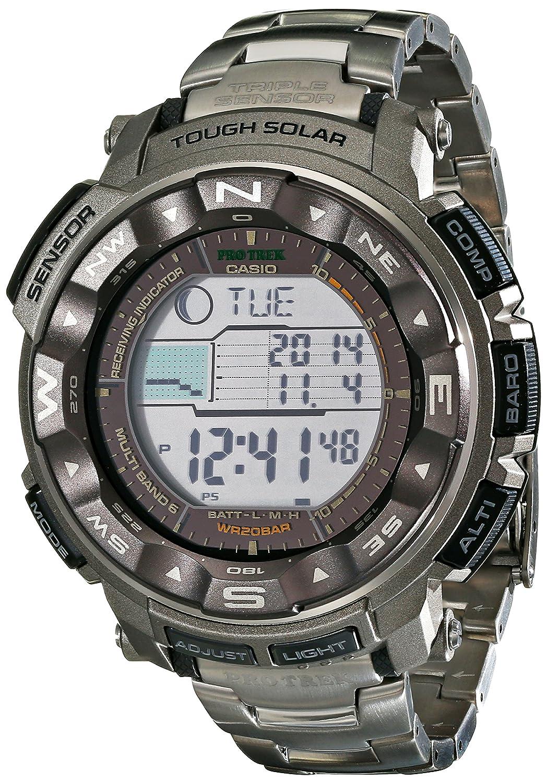 Casio Mens Pro Trek PRW2500T Tough Solar Digital Sport Watch