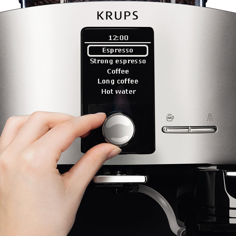 Krups Lattespress QF Die Cast EA82FD - Cafetera Super Automáticas de 15 Bares de Presión, Molinillo Cónico y Metálico, Sistema de Prensado Ultraplano, ...