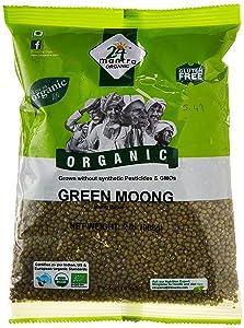 24 Mantara 24 Mantra Organic Green Moong - 2 Lb,, ()