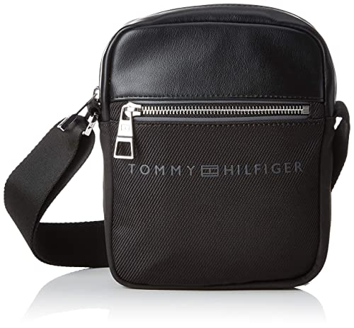 f988f43c39 Tommy Hilfiger Urban Novelty Mini Reporter, Men's Shoulder Bag, Black,  6x21x16 cm (