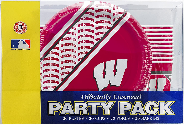 Wisconsin Badgers NCAA 48 Team Napkins NEW