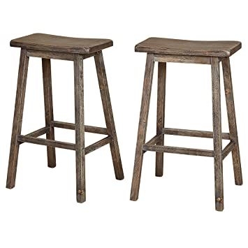 Astonishing The Mezzanine Shoppe 44330Gry Pr Marney Mid Century 2 Piece Counter Height Kitchen Saddle Stool 30 Inches Gray Ibusinesslaw Wood Chair Design Ideas Ibusinesslaworg