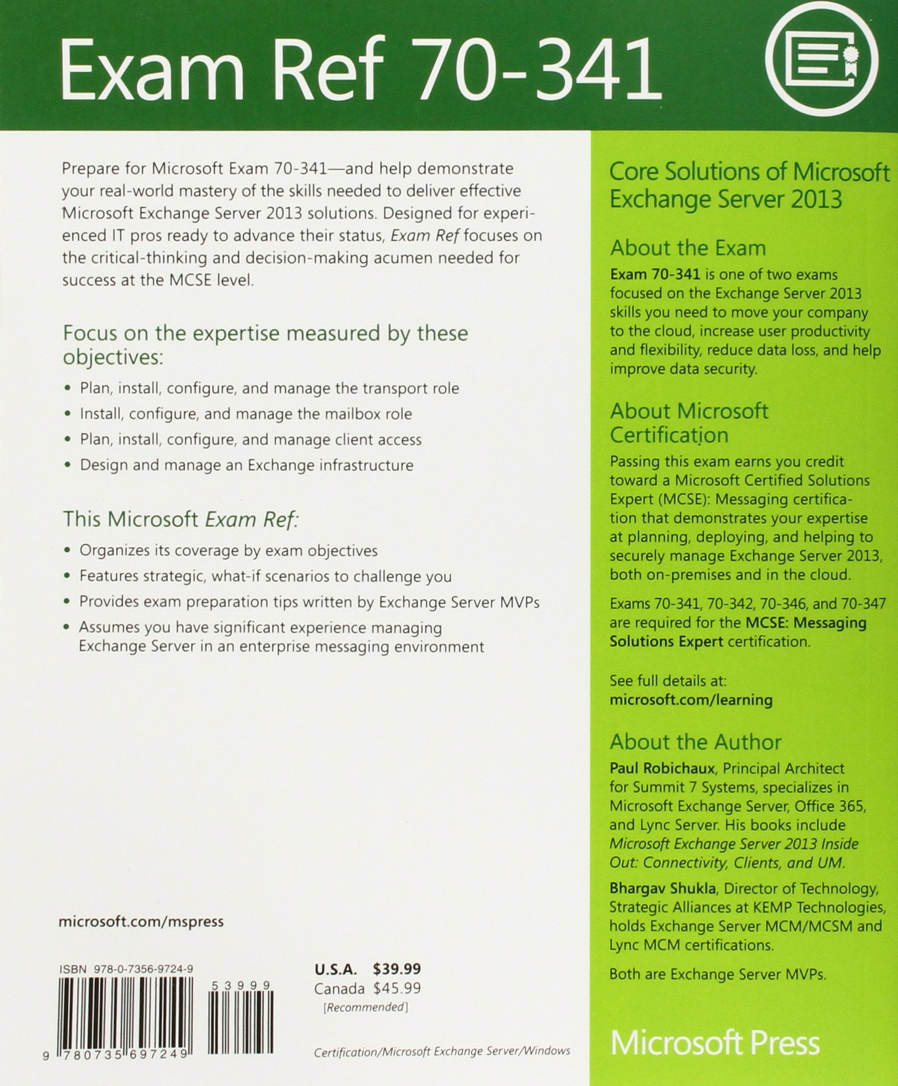 Buy exam ref 70 341 core solutions of microsoft exchange server buy exam ref 70 341 core solutions of microsoft exchange server 2013 mcse book online at low prices in india exam ref 70 341 core solutions of microsoft xflitez Images