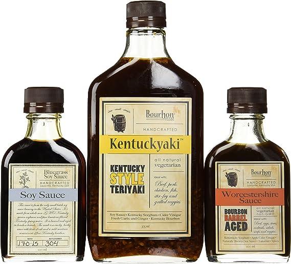 Bundle of 3 - Bourbon Barrel Sauces - Bluegrass Soy Sauce