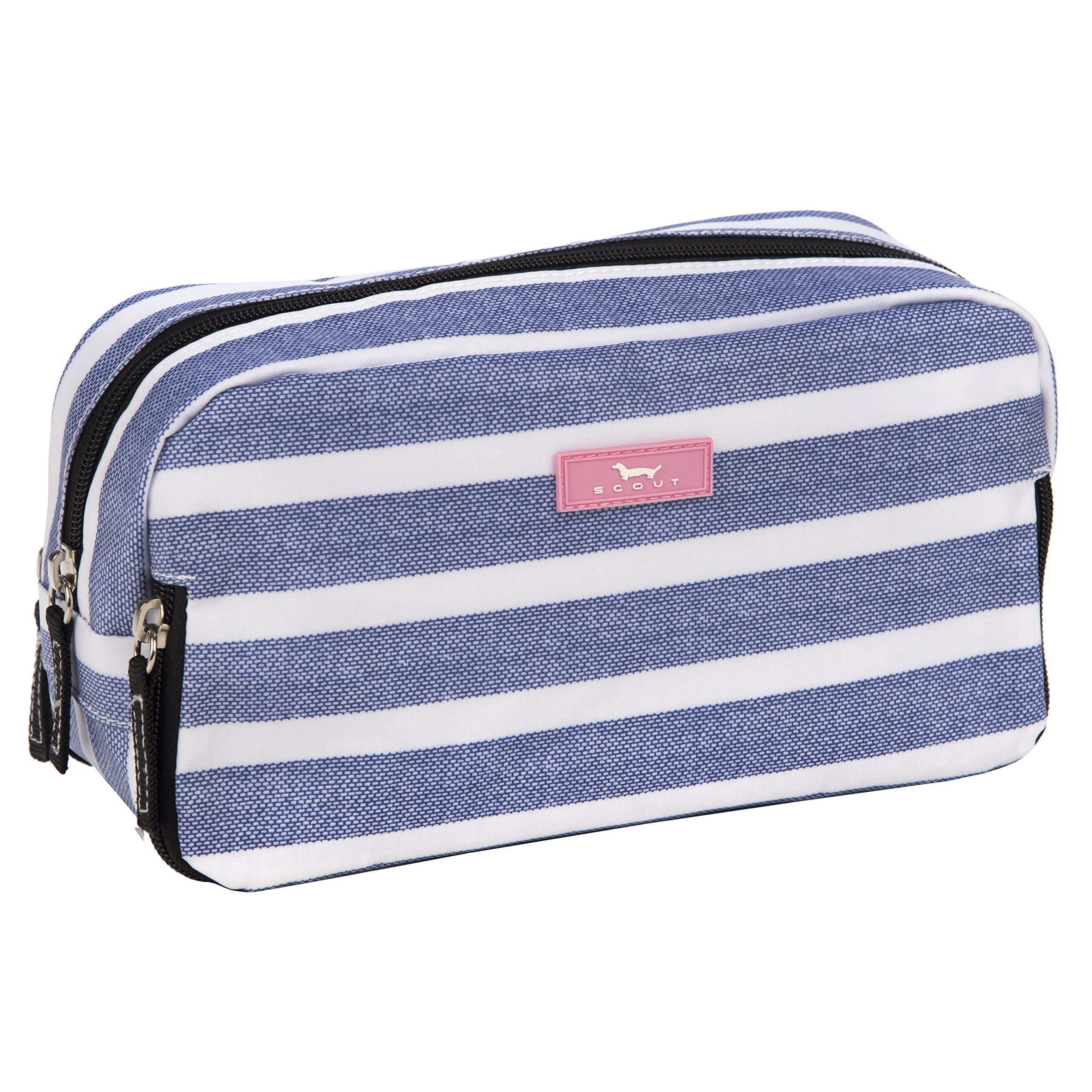 SCOUT 3-Way Bag, Toiletry & Cosmetic Multi Compartment Travel Organizer, 3 Zipper Compartments, Water Resistant, Oxford Blues