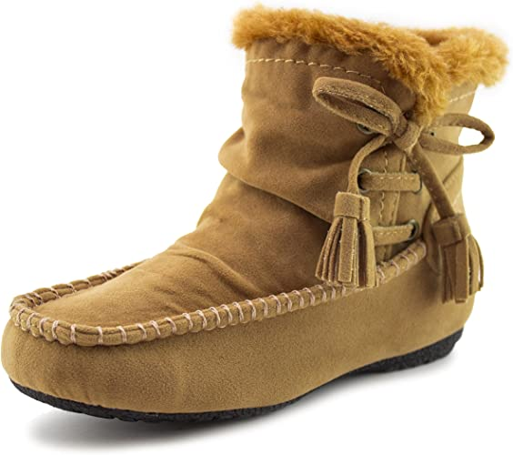 TODDLERS LITTLE GIRLS BROWN SUEDE BOOTS SIZE 5