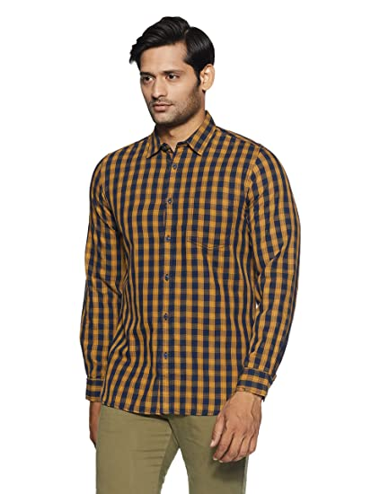 81caf6c553 Pepe Jeans Men s Checkered Slim Fit Casual Shirt  Amazon.in  Clothing    Accessories