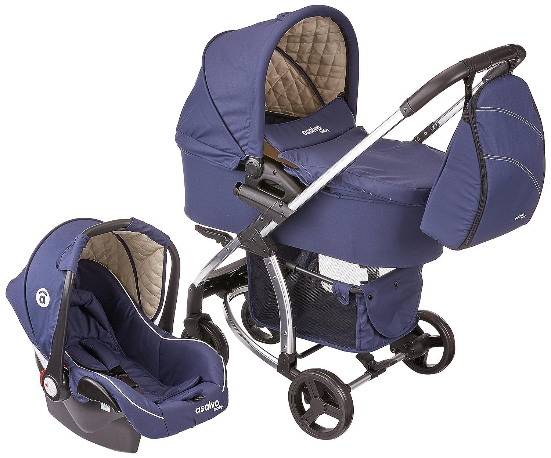 Asalvo Trio Roma Azul Marino: Amazon.es: Bebé