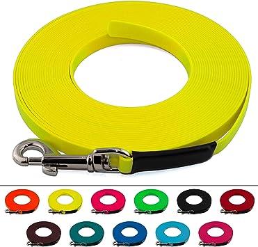 in vielen Farben BioThane Schleppleine f/ür Hunde 15-25kg gen/äht 13 mm breit ohne Handschlaufe bis zu 30 Meter L/änge