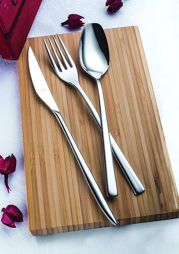 Amazon.com | idurgo Obelisk Ref. 17600 Cutlery Set, Stainless Steel: Dinnerware Sets