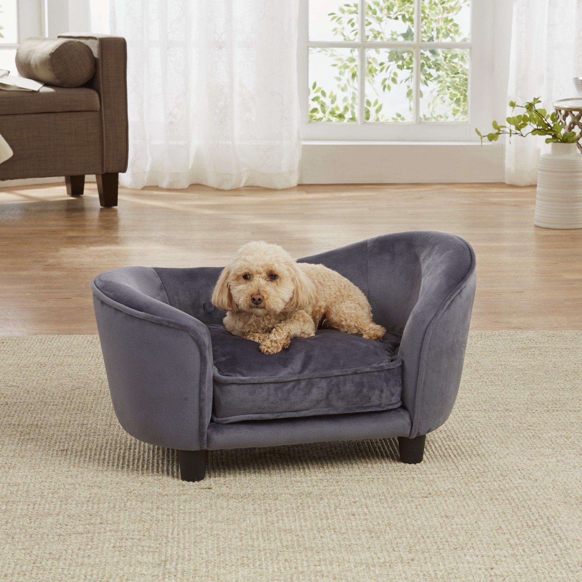 Enchanted Home Pet Ultra Plush Snuggle Pet Bed In Dark Grey