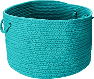 product image for Colonial Mills BR56 18 by 18 by 12-Inch Boca Raton Solid Storage Basket, Turquoise