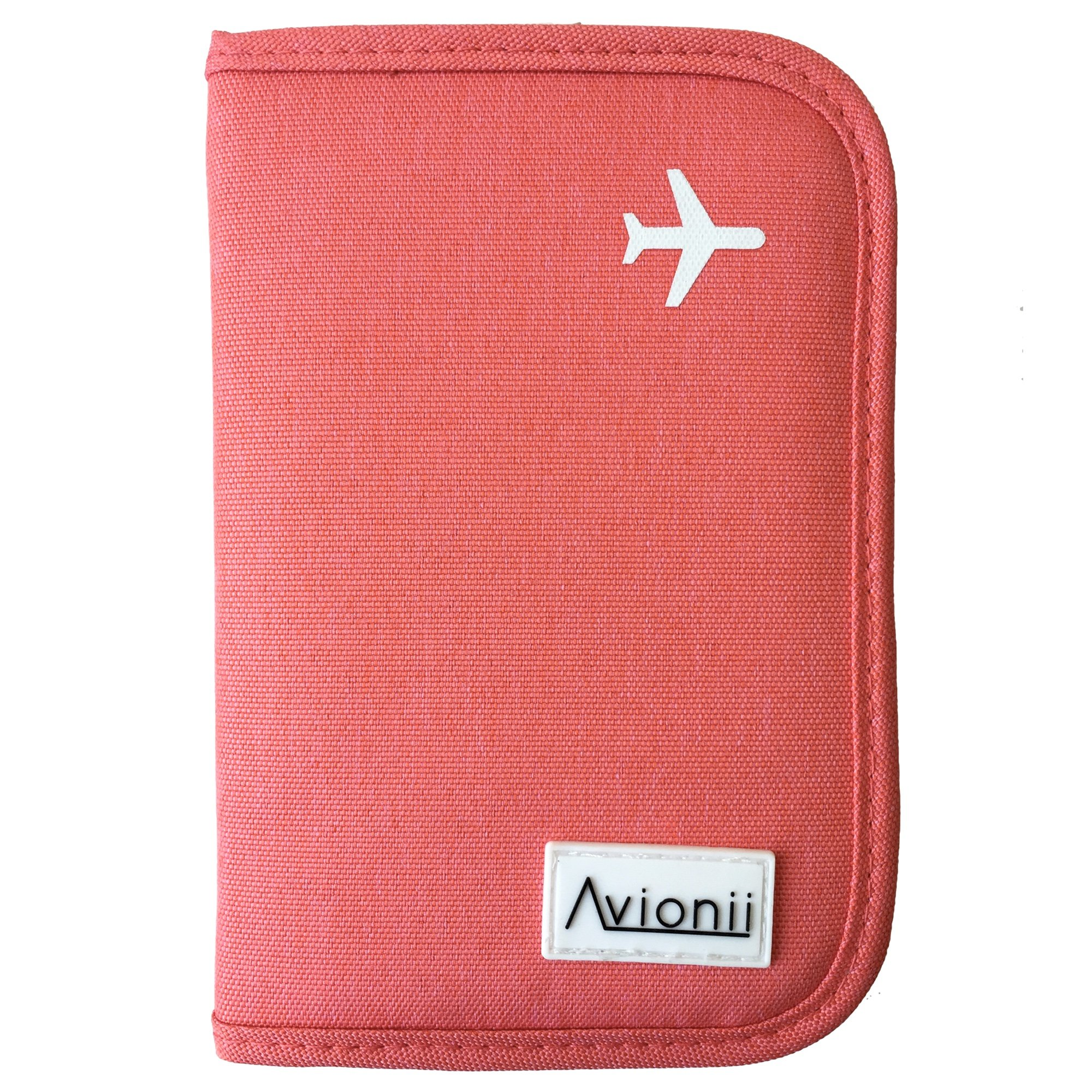 Passport Holder/Travel Wallet w/RFID Blocking for Men Women - 2018 New (Pink)