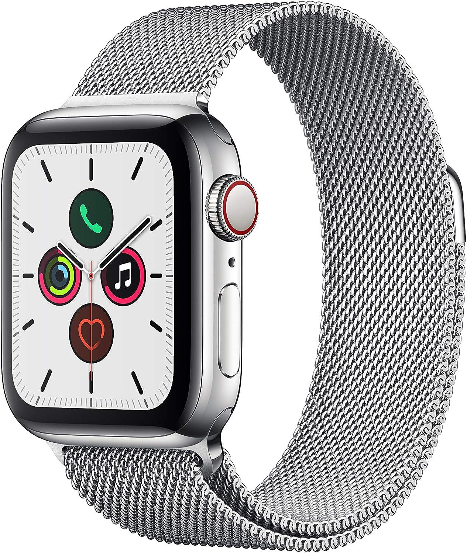 Apple Watch Series 5(GPS+Cellularモデル)40mmステンレススチールケースとミラネーゼループ
