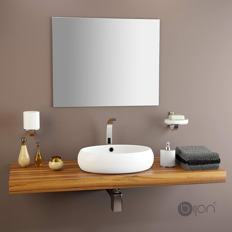 Spiegel-Badezimmerspiegel runder Wand-Badezimmerspiegel aus Edelstahl wasserdicht und rostfrei WZP//golden 30cm