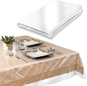 Elaine Karen Deluxe Super Clear Heavy Duty Wide Tablecloth Protector, Oblong 70