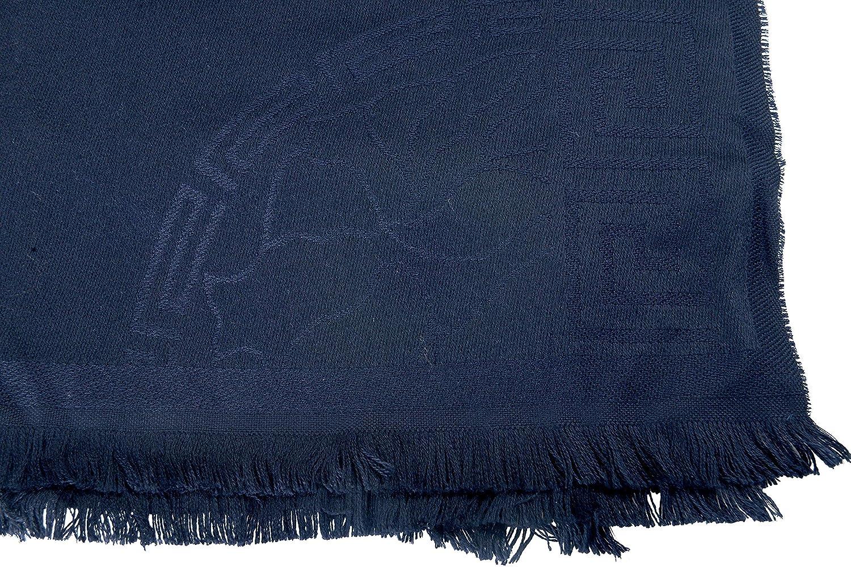 Versace 100/% Wool Navy Unisex Scarf