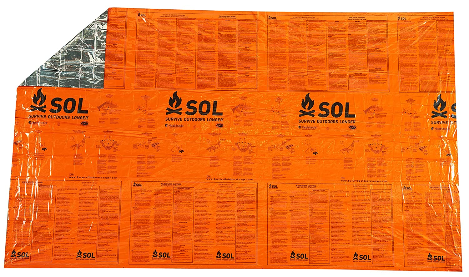 Adventure Medical Kit Sol SOLCOUV2 Couverture Double Orange SOL (SOL03) 0140-1701
