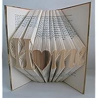 """gefaltetes Buch""""Home"""" als Geschenk, z.B. für Geburtstag/Weihnachten/Wohnungseinweihung, oder als Dekoration"""