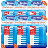 6x Wisdom Clean Between Interdental Brushes - Pack of 20 – Size Fine Blue