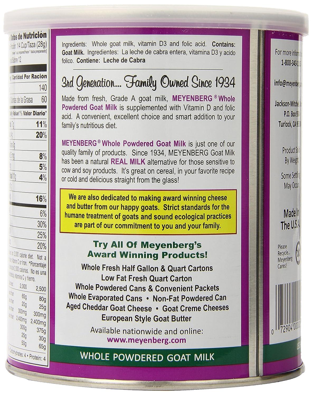 Meyenberg Whole Powdered Goat Milk, Vitamin D, 12 Ounce: Amazon.es: Salud y cuidado personal