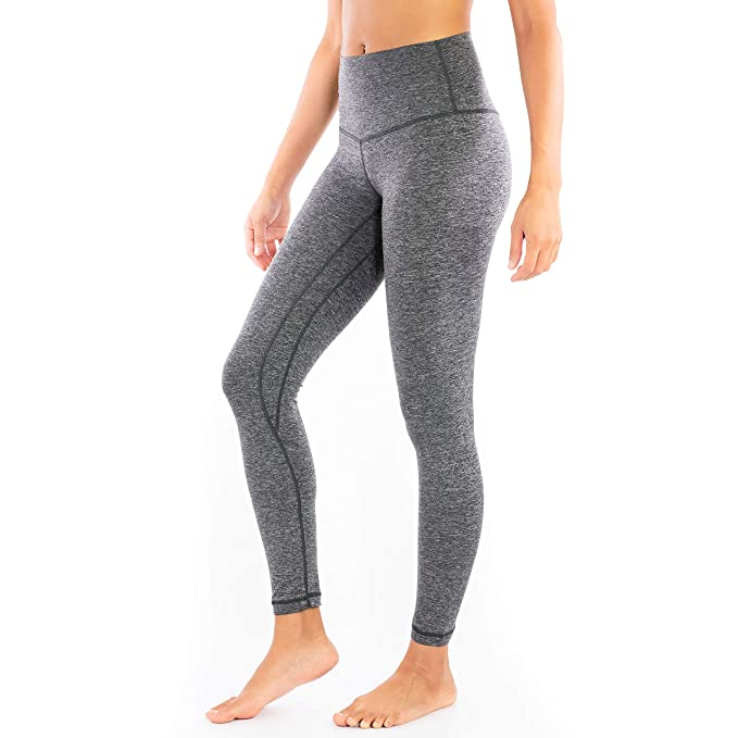 Clever Yoga Leggings for Women High Waist Tummy Control Ultra Soft Leggings - 4 Way Stretch - 7/8 Length