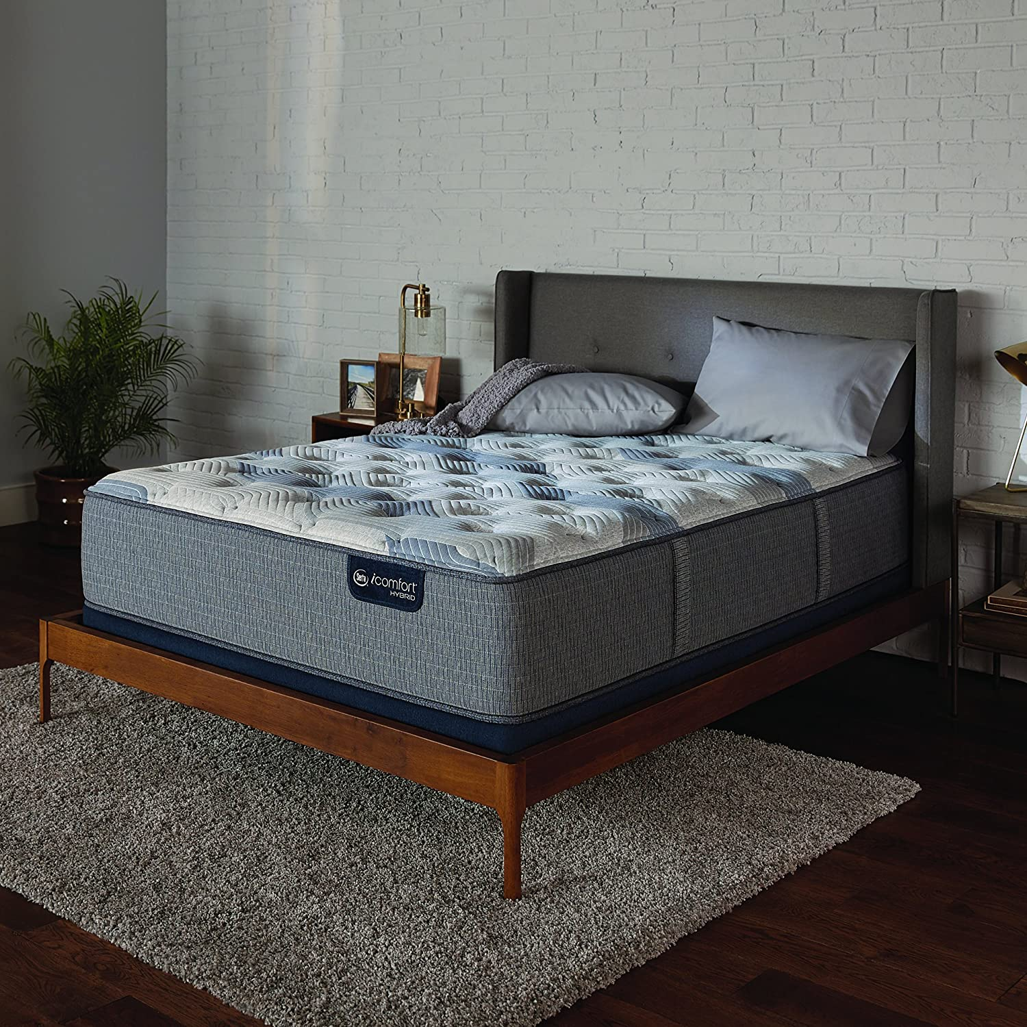 Jacia House 12 Inch Pillow-Top Innerspring Hybrid Mattress – Bed in a Box – Luxury Bed Foam Latex Double Hybrid Mattress Queen