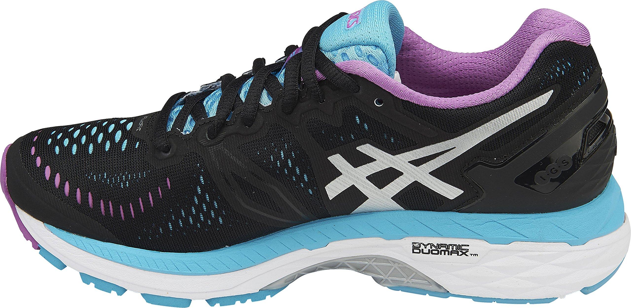 ASICS Women's Gel Kayano 23 Running Shoe (BlackOnyxCarbon, 8 B(M) US)
