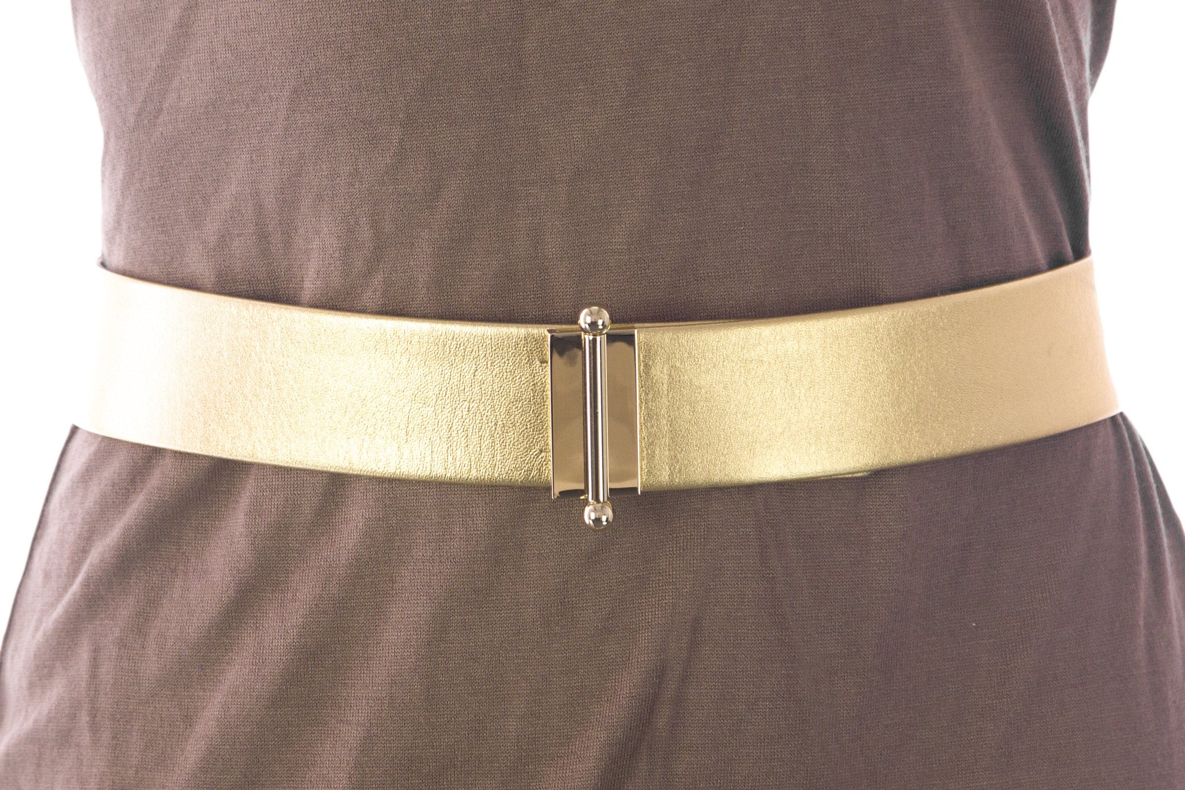 Max Mara Women's Ceres Pin Closure Belt Medium (31'') Gold by MaxMara (Image #1)