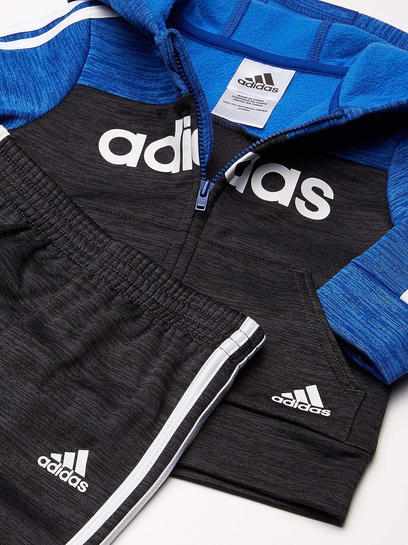 adidas Baby Boys Lil Sport Zip Front Hoodie /& Sweatpants Clothing Set