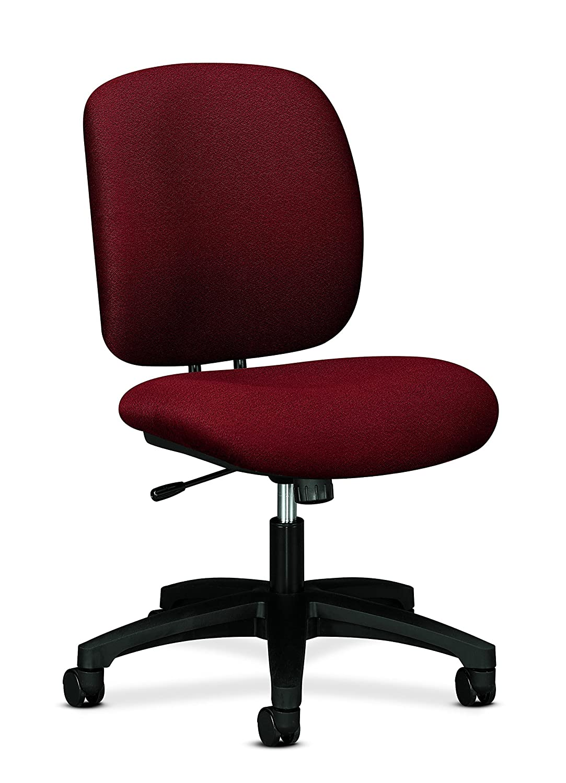 Confetti Burgundy Task Swivel Tilt Chair HON ComforTask Task Chair - Swivel Computer Chair for Office Desk, Black (H5901)