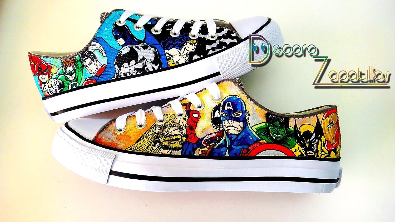 Superhero Marvel Dc custom canvas shoes
