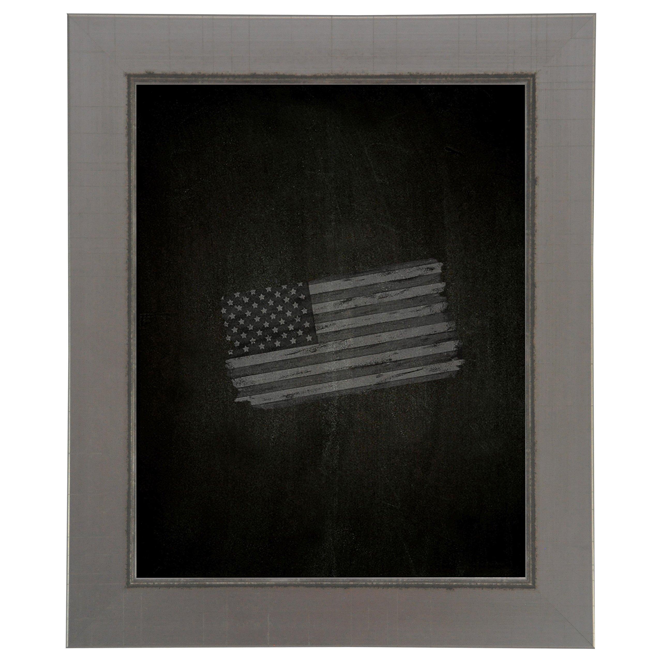 Rayne Mirrors American Made Rayne Silver Swift Blackboard/Chalkboard 23 x 23