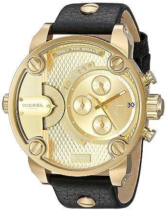 Amazon.com  Diesel Men s DZ7363 Little Daddy Gold Black Leather Watch   Diesel  Watches b68a26cad4