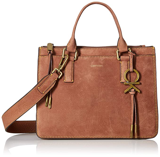 Amazon.com: Calvin Klein Brynn Nubuck - Bolso de piel con ...